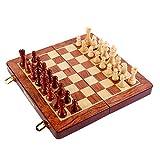 Ajedrez Magnetico Plegable Chess Plegables para Adultos Niños Principiantes 17.5×17.5×2.2cm / 24.8×4.8×2.5cm / 30×30×2.7cm - 2 Reinas Adicionales