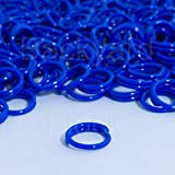 100 Pack Spiral Chicken Poultry Leg Bands Rings - #11 11/16