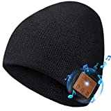 ULTRICS Bluetooth Beanie Hat, Upgraded V5.0 Wireless Headphone Warm Knitted Slouch Hat, Unisex Soft Washable Winter Cap with Stereo Speaker and Mic for Music Running Sports Workout Men Women Gifts