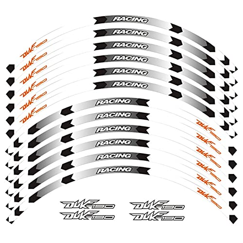 Calcomanías Motos Etiqueta de la rueda de la motocicleta Etiqueta de la motocicleta Pegatina Frente Ruedas traseras Cuapallas reflectantes reflectantes Pegatinas impermeables Rim Stripes para Duke790