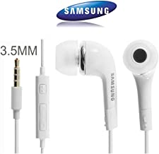 Samsung Originale Bianco EHS64AVFWE Auricolari/Cuffie/Vivavoce Kit/Cuffie Stereo 3.5mm Microfono per Galaxy S7, S6Edge Plus, S5Mini, S4i9500, S4Mini i9190, (Confezione Bulk)