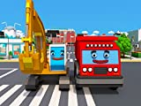 Cars Town: The Excavator and red Truck