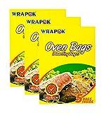 WRAPOK - Bolsas de horno para asar (tamaño mediano, sin ensuciar, aptas para horno, 15 bolsas de 35,56 x 43,18 cm)