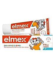 ELMEX Dentifricio Bimbi 0-6 Anni, con Concentrazione Ridotta di Fluoruro Amminico per Proteggere I Denti dei Bambini, Anticarie, 0% Coloranti, 50 ml