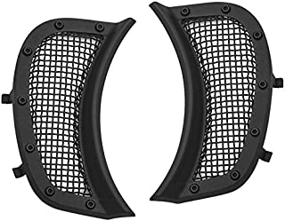 Kuryakyn Satin Black Mesh Headlight Vent Accents Pair for Harley 2015-2018 Road Glide Models