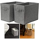 Hausfelder ORDNUNGSLIEBE Körbe zur Aufbewahrung und Dekoration - hohe Aufbewahrungskörbe - Handtücher Toilettenpapier Bad-Deko Aufbewahrungsboxen für Badezimmer und Wohnzimmer (2 Stück)