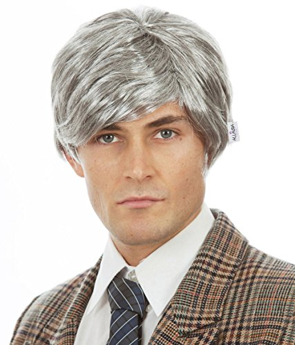 Old Man Wig Fits Adults and Kids – Grey Silver Grandpa Costume Mens Gray Wigs