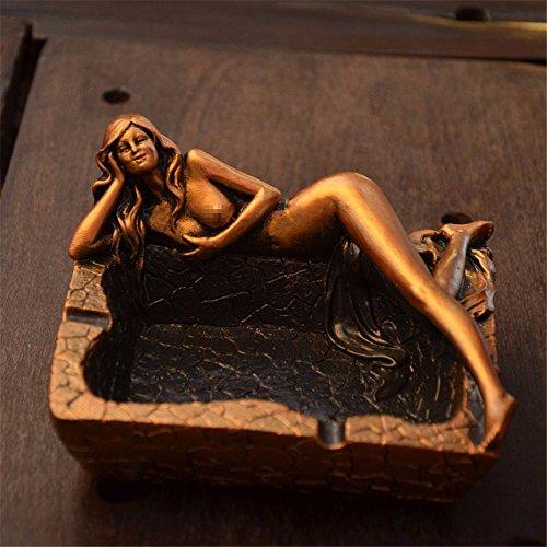 Creative Retro Leggings Beauty Furniture Living Room Bedroom Ashtray, Bronze