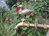 Grifo decorativo exterior grifo exterior rural Animal Bibcock jardín con pato de bronce antiguo para lavadora grifo