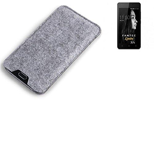 K-S-Trade® Filz Schutz Hülle Für FANTEC Limbo Schutzhülle Filztasche Filz Tasche Hülle Sleeve Handyhülle Filzhülle Grau