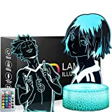 Anime 3D Night Light - 2 Pattern 16 Colors Anime Table Lamp with Remote Control Kids Bedroom Decoration, Creative Lighting Perfect Souvenir Gifts for Christmas and Birthday Gifts