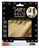 Kreul 99421 - Art Deco Blattmetall, zum Veredeln von Holz, Papier, Leinwand, Kartonage, Styropor, Kunststoff, Wachs, Keramik, Porzellan und vielem mehr, 25 Blatt je ca. 14 x 14 cm, gold