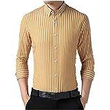 N\P Camisa de manga larga para hombre con rayas de primavera y otoño
