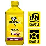 BARDAHL T&D Oil SAE 80W90 Lubrificante Speciale Per Trasmissioni e Differenziali di Veicoli Industriali 1 LT