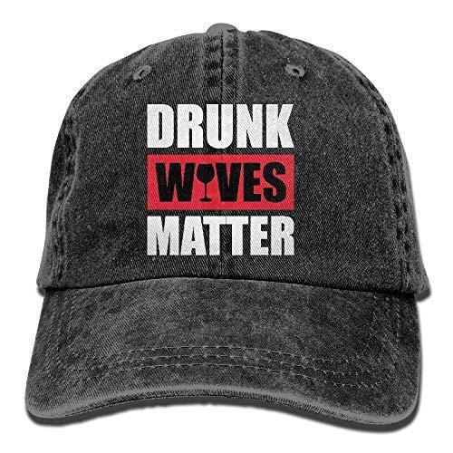 Elsaone Moglie ubriaca Materasso Borsa da camionista Cappello da baseball Cappello da papà in denim