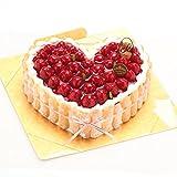 洋菓子店カサミンゴー 最高級洋菓子 特注ハート型シュス木苺レアチーズケーキ (14cm)  必ず日時指定便をお選びください。