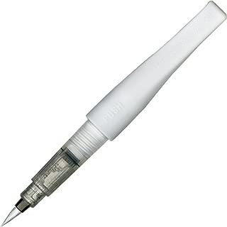 Kuretake Zig Fude Brush Pen, Memory System Wink of Luna Brush, Silver (DBB190-102)