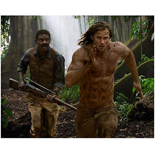 The Legend of Tarzan (2016) 8 inch by 10 inch PHOTOGRAPH Alexander Skarsgard Running Ahead of Samuel L. Jackson kn