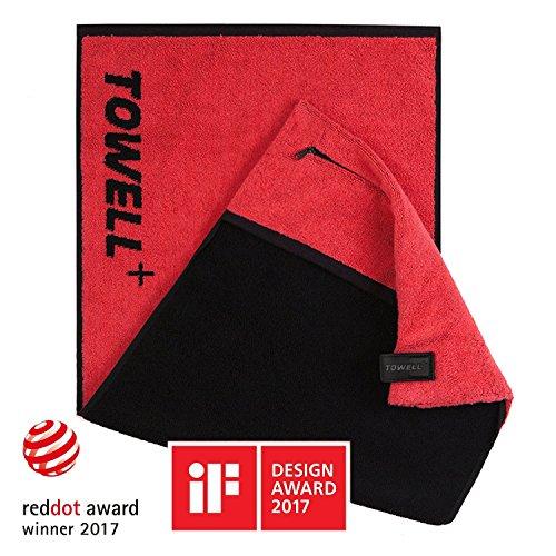 STRYVE Towell + | Sporthandtuch mit Tasche und Magnetclip, Bekannt aus