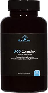 Super Active B Complex - Pure B-50 Complex Vitamins - Natural, Methylated, Bioavailable, Vegan Vitamin Supplement For Men And Women - Supports Energy, Focus, Sleep, Immune System, Stress - 60 Capsules