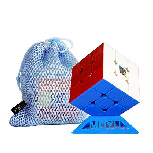 FunnyGoo MoYu Cubing Classroom Mofang jiaoshi MF3RS3M MF3RS 3M RS3M 3x3 3 Capas Cubo mágico MFJS 3x3x3 Cubo Stickerless con un Soporte y una Bolsa