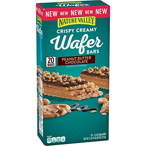 Nature Valley Nature Valley Crispy Creamy Wafer Bars Peanut Butter Chocolate 20 X 1.3 Ounce  Net Wt 26 Ounce , 26 Ounce