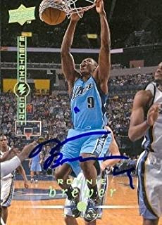 Autograph Warehouse 73839 Ronnie Brewer Autographed Basketball Card Utah Jazz 2008 Upper Deck No 193