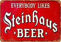 ホーム装飾記号贈り物スタインハウスビールレトロビンテージブリキサイン
