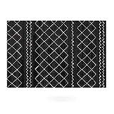 kiter Alfombra Estilo marroquí Alfombra Negro y Negro Modelo geométrico Moderno Alfombra de la Sala Dormitorio de Noche Manta Alfombras moqueta (Color : Black3, tamaño : 120 * 160cm)