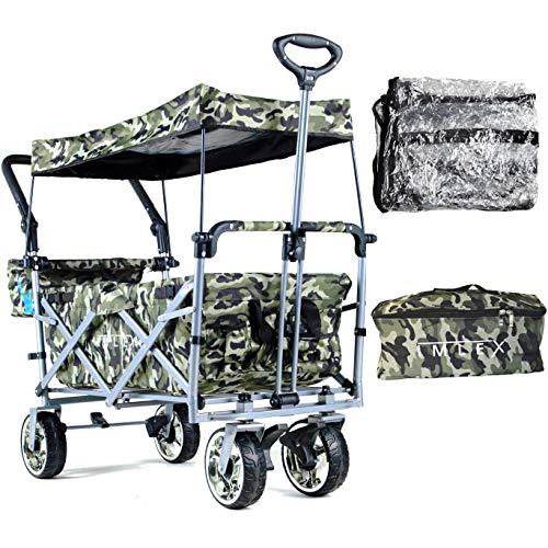 IMLEX Bollerwagen IM-4268 Camouflage mit Regenschutz + Kühltasche