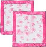 MiracleWare by Miracle Blanket Muslin Security Blanket, 2 Pack (Pink Elephant)