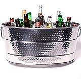 BREKX Aspen Heavy-Duty Stainless Steel Beverage Tub - Metal Ice and Drink Bucket, Large 25-Quart...