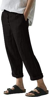 a3ef19ca936 Pantalones Casuales SEWORLDPantalón de Mujer de Color sólido Casual de Gran  tamaño con Botones.