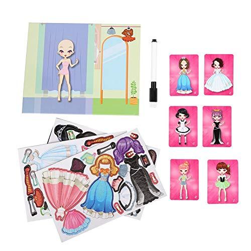 Gioco magnetico per bambini Dress Up Puzzle, Bambini Gioco da tavolo in legno Abbigliamento Cambio di giocattolo educativo Fingere di giocare Mix di giochi da tavolo