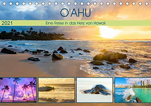 O'ahu - Eine Reise in das Herz von Hawaii (Tischkalender 2021 DIN A5 quer)
