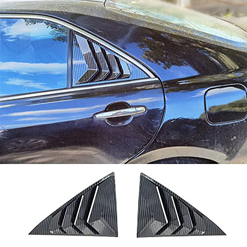 2Pcs Carbon Fiber Style ABS Door Rear Triangle Side Window Louver Shutter Cover Trim for Camry XV40 2006-2011
