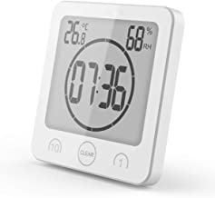 BALDR Bathroom Clock Digital Alarm Clock Clock Bathroom Shower Suction Cup Shower Clock with LCD Display Humidity Temperat...