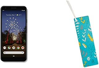 Google - Pixel 3a XL with 64GB Memory Cell Phone (Unlocked) - Just Black & Amazon.com $25 Gift Card as a Bookmark (Leaves Design)