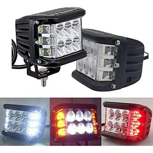 2Pcs Car lights,led strobe,strobe light led,strobe lights,truck light led (White light + left and right white light)