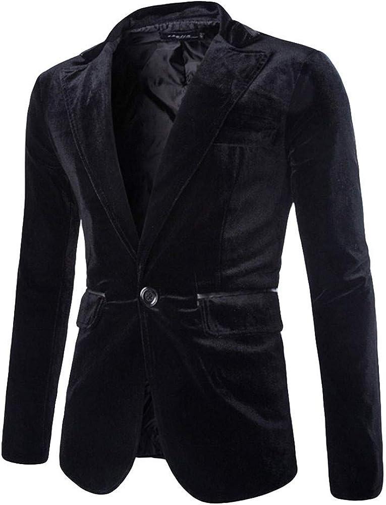 Blazers for Men Fashion Pure Corduroy Casual Single Button Corduroy Suit Jacket Coat