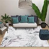 La Alfombra Alfombra Comedor Sala de Estar Alfombra blanquecina Moderna Textura de mármol diseño Minimalista alfonbras Infantil Antideslizante alfombras 200*300cm