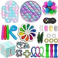 フィジットのおもちゃセット感覚フィジットパックプッシュポップバブルおもちゃシンプルなディンプル感覚のフィジット玩具ストレスリリーシング反不安の自閉症手のおもちゃ (Color : D)