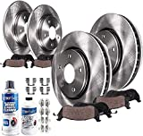 Detroit Axle - 325mm Front and 330mm Rear Disc Rotors Ceramic Brake Pads w/Hardware for 2011-2018 Ford Explorer/ 2009-2018 Flex/ 2011-2017 Taurus/ 2011-2017 Lincoln MKT - See Fitment