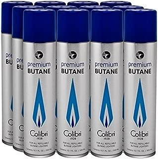 Colibri Premium Butane 300 ML Large Can - 12 Pack+ FREE Torch lighter