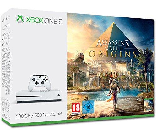Xbox One S 500GB Konsole - Assassin's Creed Origins Bundle