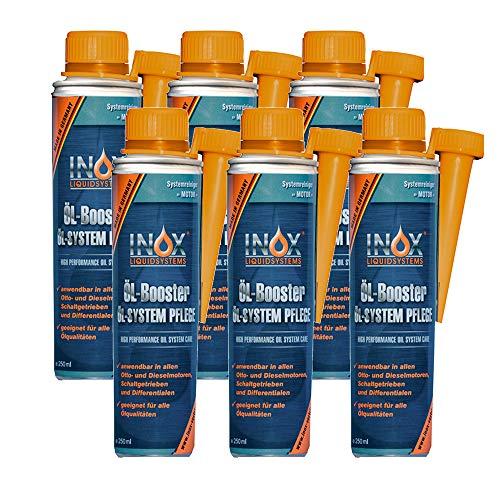 INOX® Huile Booster, huile Système d'entretien Additif pour voiture - 6 x 250 ml