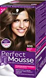 Schwarzkopf - Perfect Mousse - Coloration Cheveux Mousse Permanente sans Ammoniaque - Châtain Clair 600