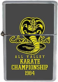 Cobra Kai Karate Championship 1984 Flip Top Oil Cigarette Lighter