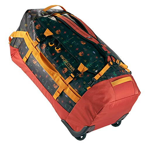 Eagle Creek Cargo Hauler Wheeled Duffel, faltbare Reisetasche mit Rollen, großes Duffle Bag, abrieb- & wasserbeständiges TPU-Gewebe, Rucksacktragegurte, Mehrfarbig (Golden State), 110 L
