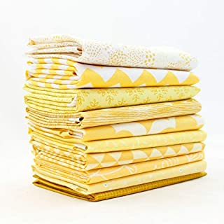 Yellow Fat Quarter Bundle (YE.10FQ) by Mixed Designers for Southern Fabric